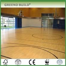 Oak indoor basketball court wood flooring