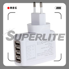 4 Ports USB Multi-function AC Adapter wall outlet usb Works with Most Smart Phones and Tablets
