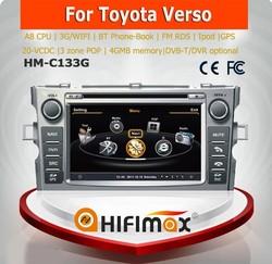 Hifimax car dvd player for toyota corolla verso