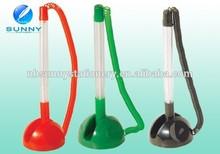 plastic advertising desktop pen holder ,deskj pen with chain