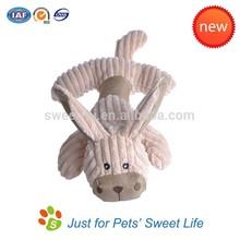 High quality Stripes Fabric Plush Dog Stuffed Soft Toys