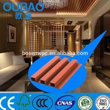 Low maintenance CE SGS FSC certificate sheet wpc composite 3d wall panel