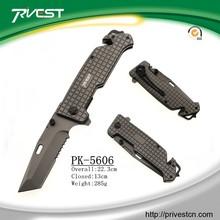 Suvival Glass Breaker Titanium Line Cutter Multi-tool Folding Knives with Belt Clip