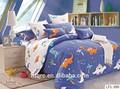 King size 100% de cobertura de cama de lujo de la boda hoja de cama queen sistemas del lecho de 3d de dibujos animados juegos de cama impresas y edredón