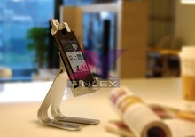 Portable aluminum mobile phone stand holder