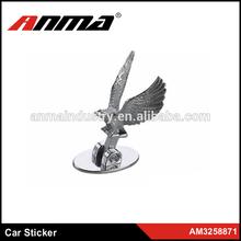 Silver Tone Eagle Shaped Plastic Car Auto Badge Sticker Emblem Decor