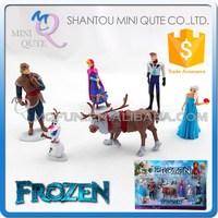 Mini Qute American hot sales 6 in1 5-11cm cartoon plastic Frozen doll princess anna & elsa olaf models action figures toys