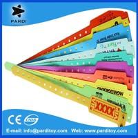 2015 Hot Door Entry PVC plastic ID vinyl wristbands bracelets