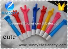 promotional cute hand shape ball pen,mini ball pen refill