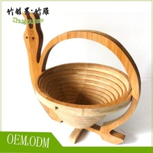 Gift basket bamboo folding apple basket with many different design