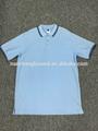 Los hombres s tshirt100% polo de algodón sólido piqure con y/d en el cuello y puños