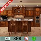 Laminated light oak kitchen cabinet / wood color kitchen cabinet / cheap kitchen