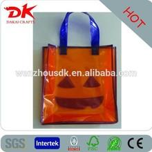 good quality news design pvc bag, clear pvc bag for Christmas, Halloween shopping