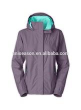 Women waterproof 100% polyester windcheater jacket