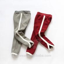 Kz-5532 wholesale fashion children winter child clothes kids clothing Korean new plus thick velvet casual pants legging trousers
