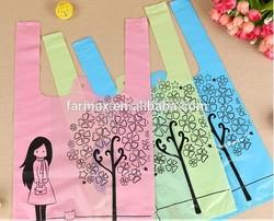 2015 Farmax biodegrable vest t-shirt plastic shopping bags