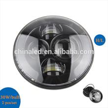 7'' H4/HB2/9003 LED Headlight H13/9008 Round LED Headlamp for Wrangler JK