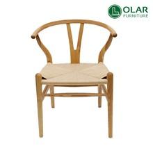 classic replica wood rattan hans wegner Y chair for restaurant