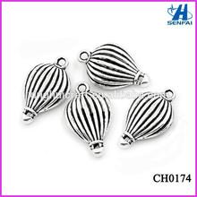Alibaba Website Wholesale Pendants & Charms Tibetan Silver Hot Air Balloon Charm Tibetan Silver Jewelry