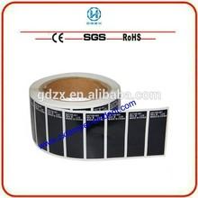 Security jewel box label tamper evident sticker secure seals