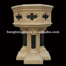 Mixed Color Egypt Beige Marble Flowerpot Factory Supplying