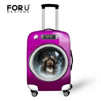 Girls Or Boys Customized Polyester Waterproof Elastic Luggage Suitcase Cover