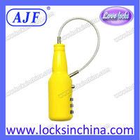 AJF Newest china mainland bottle shape combination lock travel lock