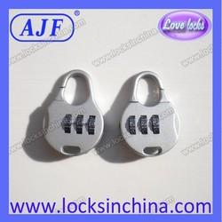 AJF pretty bule 3 digits combination padlock