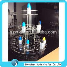 transparent acrylic e-shisha liquid display stand, perspex display stand for e juice