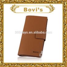 Promotional wallet pu leather wallet branded export surplus 3 fold wallet