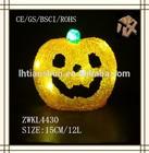2015 Hot sale Christmas decoration light up plastic pumpkin