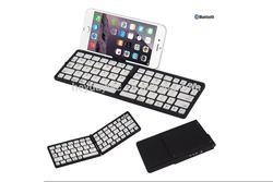 Folding Bluetooth Keyboard for iPad and iPhone - Large Desktop Size Keys