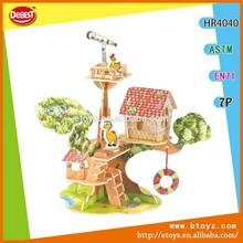 DIY Forest Villa Wooden Toys for Children