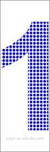 1number el backlight constant and flash light led dot number in strong blue color