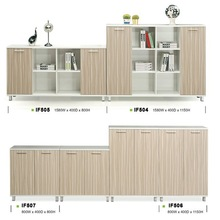 Ikea office furniture MFC office coffee cabinets IF504