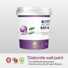 Diatomite wall paint for wall art desighs,better than latex paint