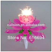 amazing flower melody birthday cake Candles fireworks