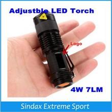 7W 400LM Q5 Adjustable Mini LED Flashlight Electrnoic Torch