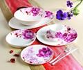 2014 nuevo diseño caliente de la venta! 32 unids fina de China de hueso última cena conjunto con Popular de color rosa diseño de la flor para 6 personas
