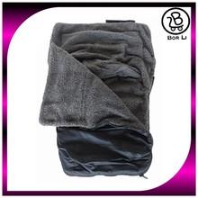 Black single zip baby sleeping bag