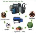 Nuevo diseño de la cocina de reciclaje de desechos proveedor de máquinas, overplus de alimentos línea de reciclaje