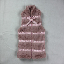 6-24M infant girls pink faux fur vest