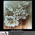 Plus récent fleur de pavot 2015 antique peinture à l'huile sur toile pour décoration murale art