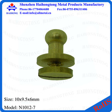 China manufacturer brass belt rivets with screw ball post with ring