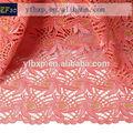 2015 vestido de diseño diseño de coral y oro nigeriano cordón cuerda/agua química de encaje/africana tela de encaje guipur real para el carnaval