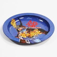 custom round metal cheap ashtray