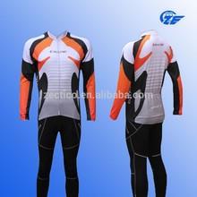 2015 China Cheap Small Order Long Sleeve Sublimation Cycling Wear