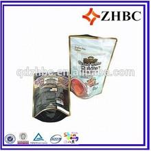 aluminum zipper lock coffee pouch