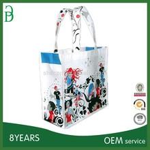 OPP laminating non woven fabric advertising hand bag