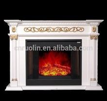Classique bois décoratif style électrique cheminée Insert